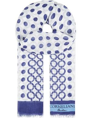 CORNELIANI Spotted linen scarf