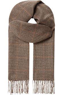 CORNELIANI Cashmere overcheck scarf