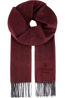 CORNELIANI Silk and cashmere herringbone scarf