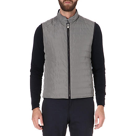 CORNELIANI Reversible quilted gilet (Navy