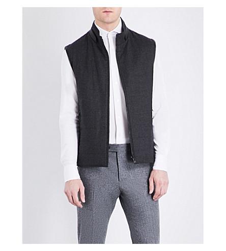 CORNELIANI Reversible wool gilet (Charcoal