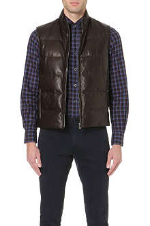 CORNELIANI Quilted leather gilet