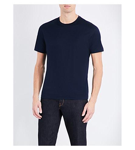 CORNELIANI Crewneck cotton-jersey t-shirt (Navy