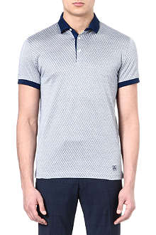 CORNELIANI Diamond polo shirt