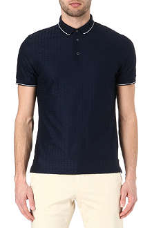 CORNELIANI Jacquard polo shirt