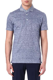 CORNELIANI Contrast collar polo shirt