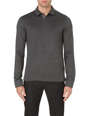 CORNELIANI Silk-blend polo shirt