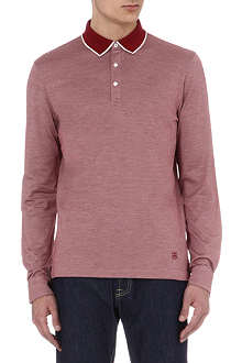 CORNELIANI Silk-jersey polo shirt