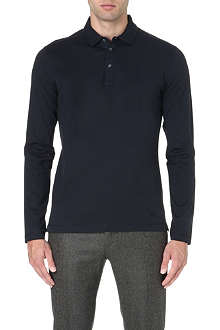 CORNELIANI Long-sleeve jersey polo shirt