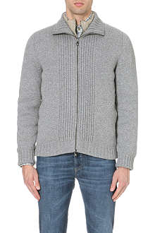 CORNELIANI Wool and cashmere-blend jacket