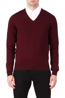 CORNELIANI Merino wool v-neck jumper