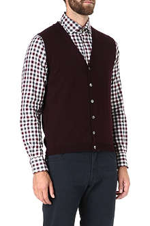 CORNELIANI Sleeveless cardigan
