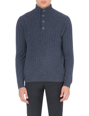 CORNELIANI Cable-knit jumper
