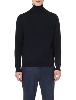 CORNELIANI Roll-neck merino wool jumper