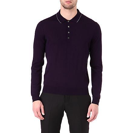 CORNELIANI Wool polo shirt (Purple