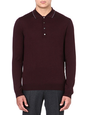 CORNELIANI Merino wool polo shirt