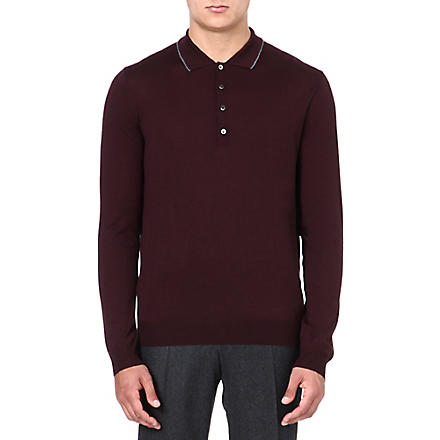 CORNELIANI Merino wool polo shirt (Pinot