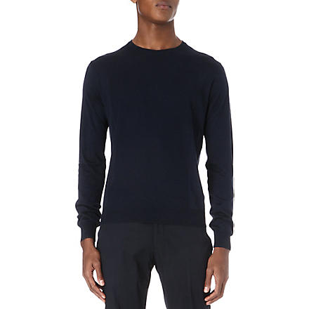 CORNELIANI Silk and cotton jumper (Blue