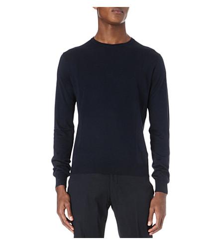 CORNELIANI Silk and cotton jumper (Blue