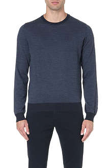 CORNELIANI Contrast-trim wool jumper