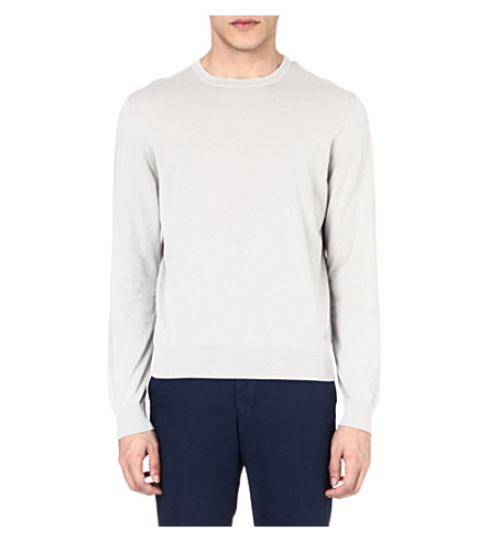 CORNELIANI Knitted crew-neck jumper (Grey