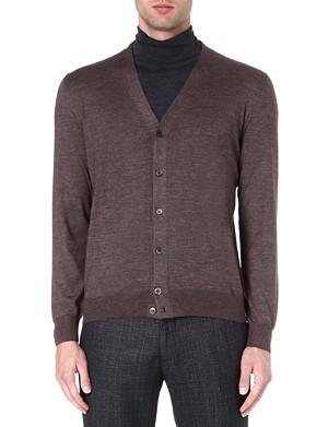 CORNELIANI Cashmere and silk-blend cardigan