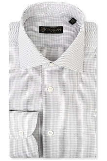 CORNELIANI Single-cuff jacquard dash shirt