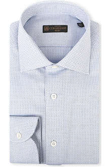 CORNELIANI Single-cuffs micro jacquard shirt