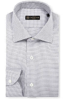 CORNELIANI Slim-fit jacquard shirt