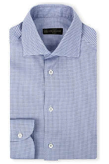 CORNELIANI Geometric print shirt