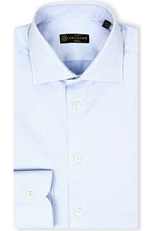 CORNELIANI Spread-collar single-cuff shirt