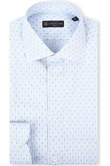 CORNELIANI Paisley-stripe regular-fit shirt