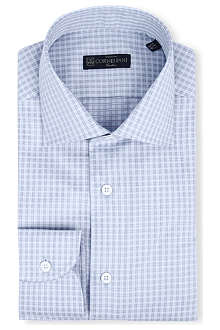 CORNELIANI Regular-fit multi check shirt