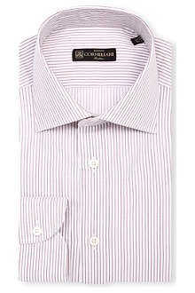 CORNELIANI Striped slim-fit single-cuff shirt