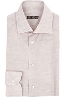 CORNELIANI Single-cuff linen-blend shirt