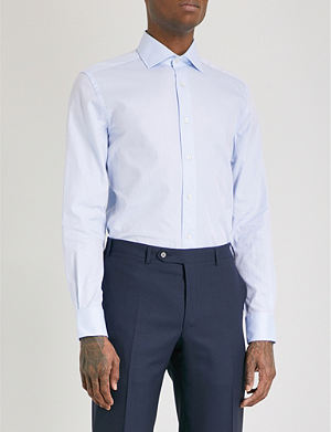 CORNELIANI Plain regular-fit single-cuff shirt