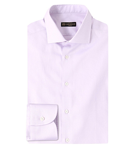CORNELIANI Slim-fit cotton shirt (Lilac