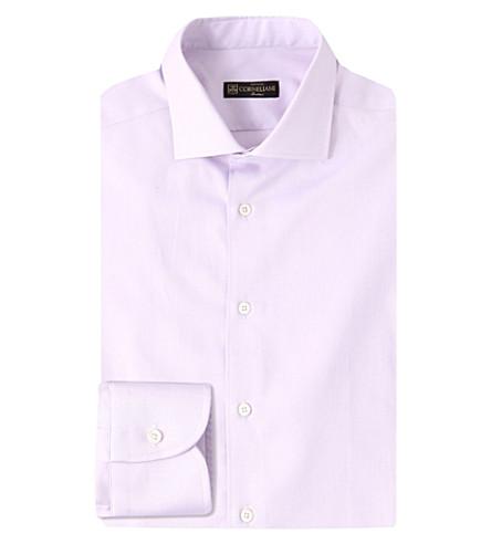 CORNELIANI Slim-fit cotton shirt (Lilac