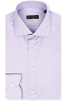CORNELIANI Plain spread-collar single-cuff shirt