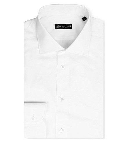 CORNELIANI Slim-fit cotton shirt (White