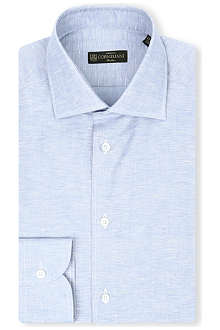 CORNELIANI Regular-fit single-cuff slub shirt