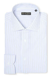 CORNELIANI Multi-stripe slim-fit single-cuff shirt