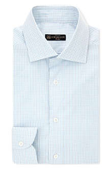 CORNELIANI Slim-fit cotton-check shirt