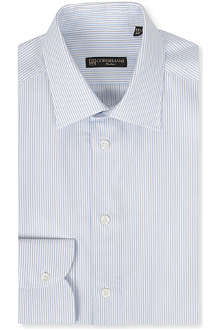 CORNELIANI Heavy stripe single-cuff shirt