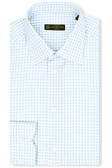 CORNELIANI Single-cuff gingham shirt