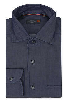 CORNELIANI Cotton and silk-blend shirt