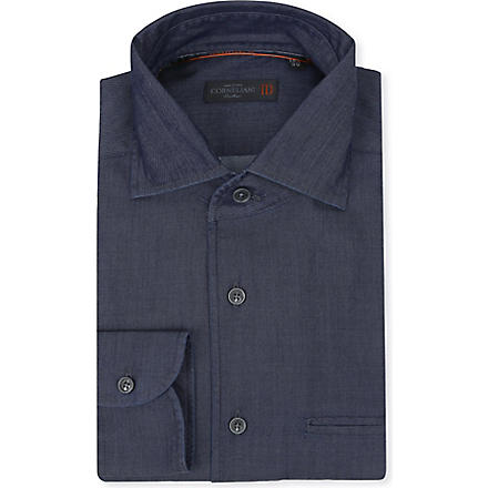 CORNELIANI Cotton and silk-blend shirt (Multi