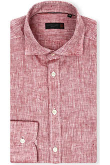 CORNELIANI Linen slim-fit shirt