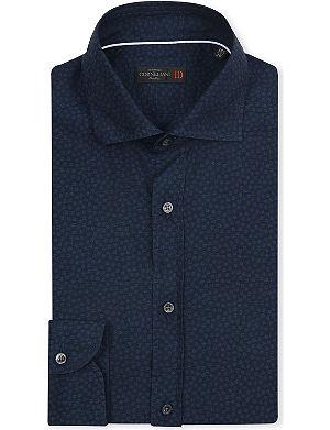 CORNELIANI Floral slim-fit cotton shirt