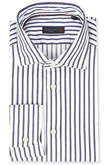 CORNELIANI Striped cotton shirt